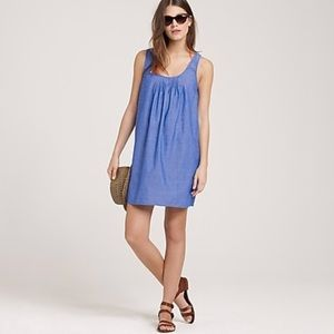 J. Crew Waterfront chambray tank dress